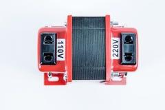 Voer, stap - onderaan voltageconvertor op Stock Foto's