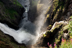 Voeringfossen waterfall in Norway Royalty Free Stock Image