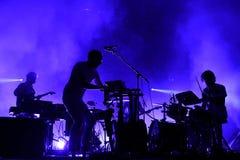 Voert de kariboe elektronische band in Primavera het Correcte Festival van 2015 uit Stock Foto