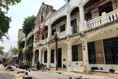 Voert het Oude de Stadsgebied van Semarang intensief vernieuwingen uit royalty-vrije stock afbeeldingen