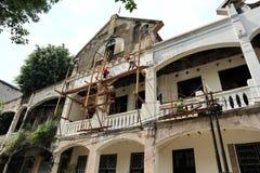 Voert het Oude de Stadsgebied van Semarang intensief vernieuwingen uit royalty-vrije stock foto