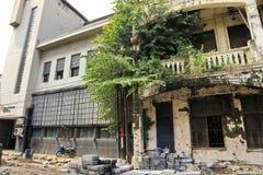 Voert het Oude de Stadsgebied van Semarang intensief vernieuwingen uit stock foto's