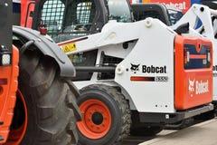 Voertuig en embleem van het Bobcat het het op zwaar werk berekende materiaal Royalty-vrije Stock Fotografie