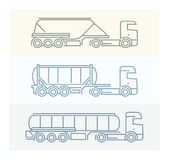 Voertuigpictogrammen: Europese Vrachtwagens Royalty-vrije Stock Foto's