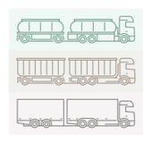 Voertuigpictogrammen: Europese Vrachtwagens - Tandems 4 Stock Foto's