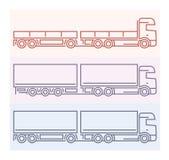Voertuigpictogrammen: Europese Vrachtwagens - Tandems 5 Stock Afbeelding