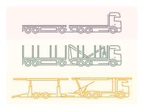 Voertuigpictogrammen: Europese Vrachtwagens - Tandems 5 Stock Afbeeldingen