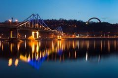 Voet brug in Kiev Royalty-vrije Stock Afbeeldingen