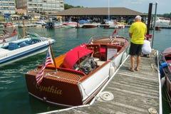 1947 22 voet Chris Craft Sportsman Utility Hull Royalty-vrije Stock Afbeeldingen