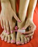 Voet en hand Stock Afbeelding