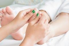 Voet en Oil Massage Spa en Huid royalty-vrije stock foto's