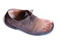 Voet en schoen stock afbeelding