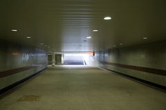 Voet Ondergrondse Tunnel Stock Foto's