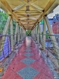 Voet over brug stock afbeelding