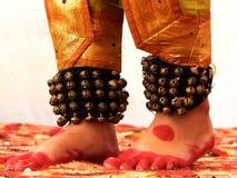Voet van een Indische Klassieke Danser royalty-vrije stock foto