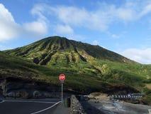 Voet van Koko Crater, Oahu, Hawaï Royalty-vrije Stock Afbeeldingen