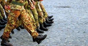 Voet van militair stock afbeelding