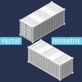20 voet verschepende container isometrische Royalty-vrije Stock Foto