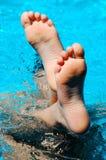Voet in water Royalty-vrije Stock Fotografie