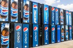 Voet Wayne - Circa Augustus 2017: Pepsi en de Automaten die van Pepsico op Reparatie VI wachten Royalty-vrije Stock Afbeeldingen