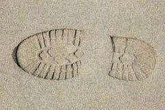Voetafdruk in het zand Royalty-vrije Stock Fotografie