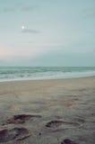 Voetafdruk op het zand Royalty-vrije Stock Foto's