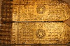Voetafdruk van gouden Boedha Stock Fotografie