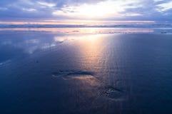Voetafdruk in zand Stock Afbeeldingen