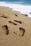 voetafdrukken stock afbeelding