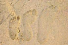 voetafdrukken stock foto's