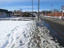 Voetafdrukken in de Smeltende Sneeuw, Johnson City Royalty-vrije Stock Afbeeldingen