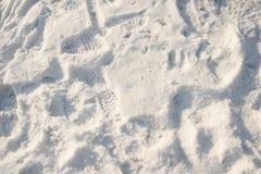 Voetafdrukken in de sneeuw Royalty-vrije Stock Foto's