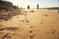 Voetafdrukken op zand Royalty-vrije Stock Afbeeldingen