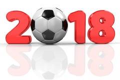 Voetbal 2018 stock illustratie