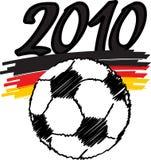 Voetbal 2010 vector illustratie