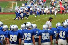 Voetbal 4 van de middelbare school Stock Fotografie