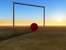 Voetbal 6 Royalty-vrije Stock Afbeelding