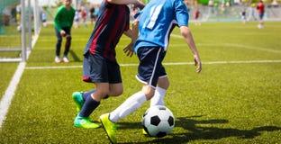 Voetbal acton Junior Football Match Competition stock afbeeldingen