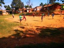 Voetbal in Afrika Stock Afbeeldingen