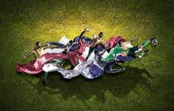 Voetbal beste ogenblikken royalty-vrije stock afbeelding