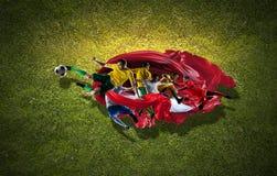 Voetbal beste ogenblikken stock foto