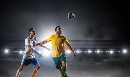 Voetbal beste ogenblikken Gemengde media Stock Foto