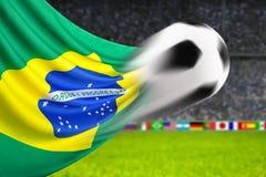 Voetbal Brazilië Royalty-vrije Stock Afbeelding