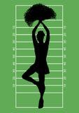 Voetbal Cheerleader 3 Stock Fotografie