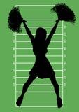 Voetbal Cheerleader 6 Royalty-vrije Stock Afbeelding