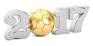 Voetbal 2017 concept Royalty-vrije Stock Fotografie