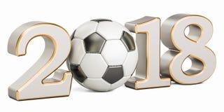 Voetbal 2018 concept, het 3D teruggeven Stock Foto's