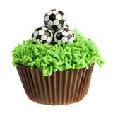 Voetbal Cupcake Stock Foto's