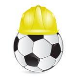 Voetbal de illustratieontwerp van de opleidingsbouw stock illustratie