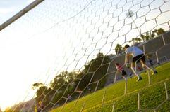 Voetbal - de Praktijk die van de Voetbal - opleidt Stock Afbeelding